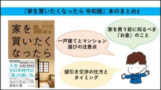 『家を買いたくなったら 令和版』本のまとめ2
